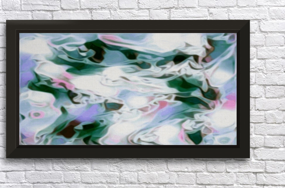 Shivers Green White Pink Lavender Swirls Abstract Art Jaycrave Designs Canvas Artwork