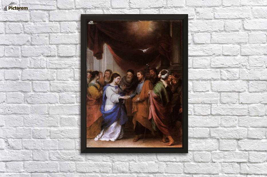 Bartolome Esteban Murillo The Baptism of Christ Giclee Paper Print Poster