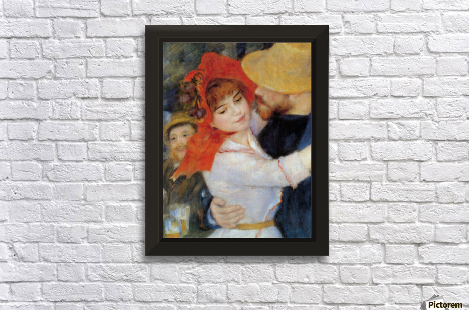 Dance In Bougival Detail By Renoir Wall Decor Frame