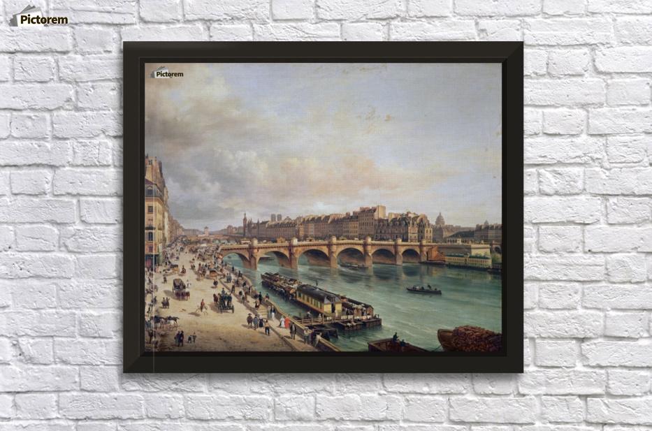 Le Pont-Neuf et la Cite Paris 1832 - Giuseppe Canella Canvas
