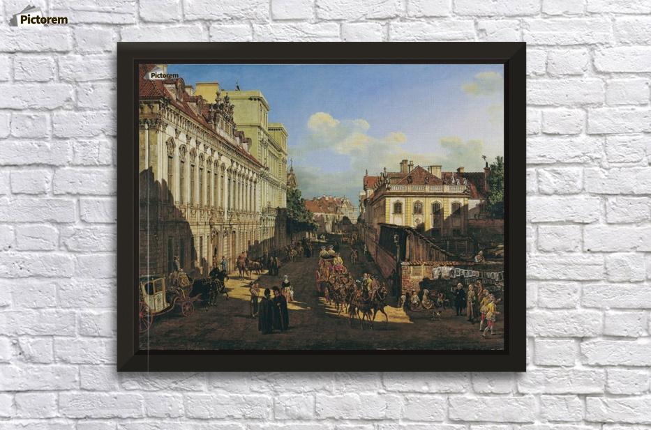 Bernardo Bellotto Miodowa Street Giclee Canvas Print  Poster