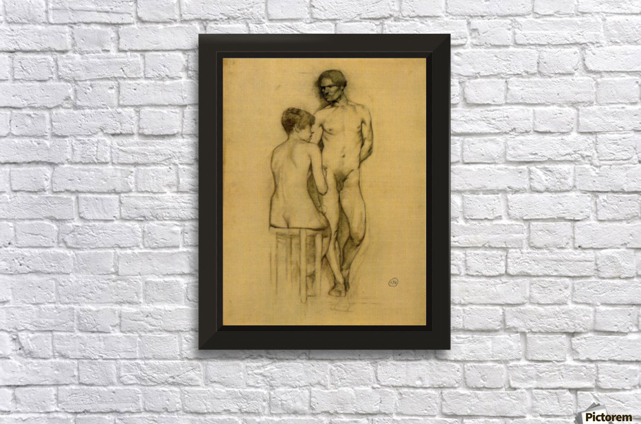 Naked couple with woman sitting by Toulouse-Lautrec - Toulouse ...