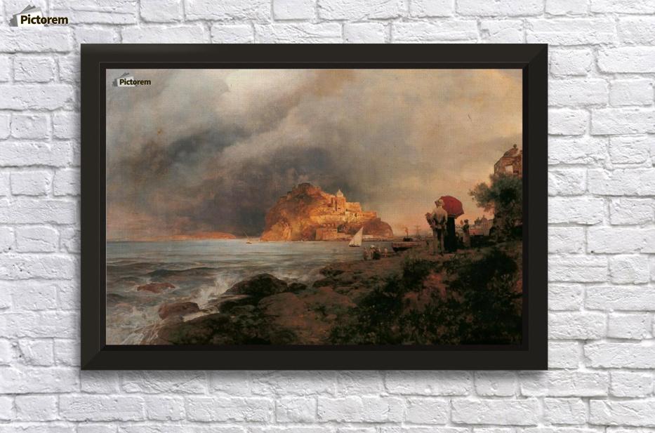 blick auf ischia oswald achenbach canvas