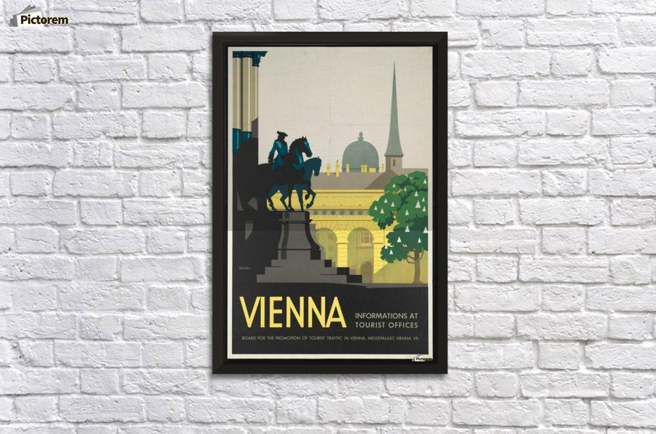 Vienna Vintage Posters - VINTAGE POSTER Canvas