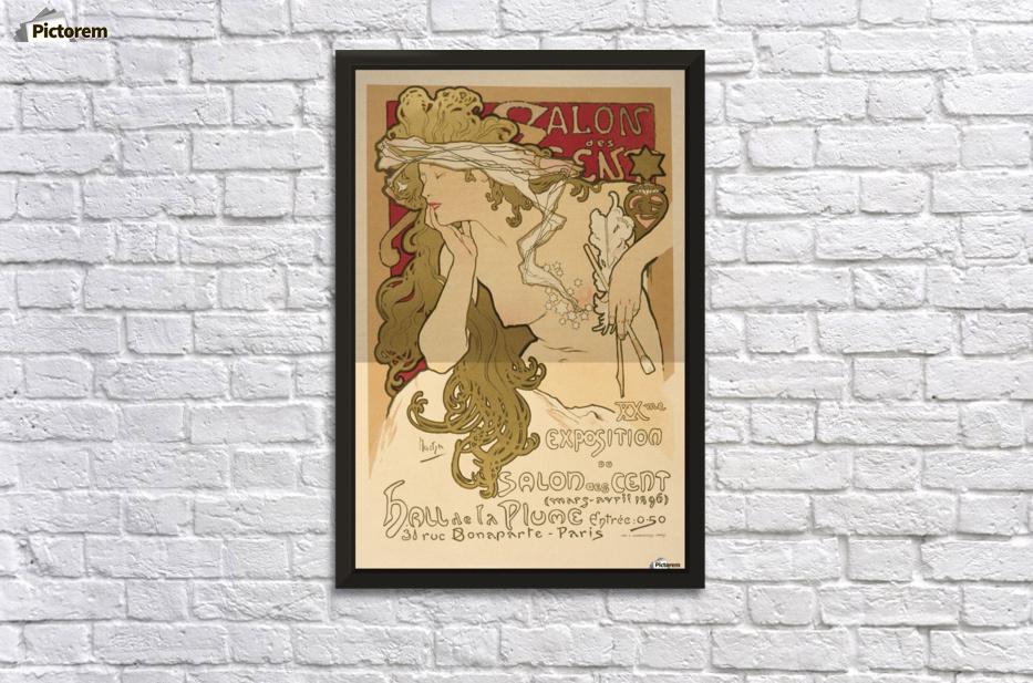 Salon des Cent Alphonse Mucha Art Nouveau Vintage Poster - VINTAGE ...