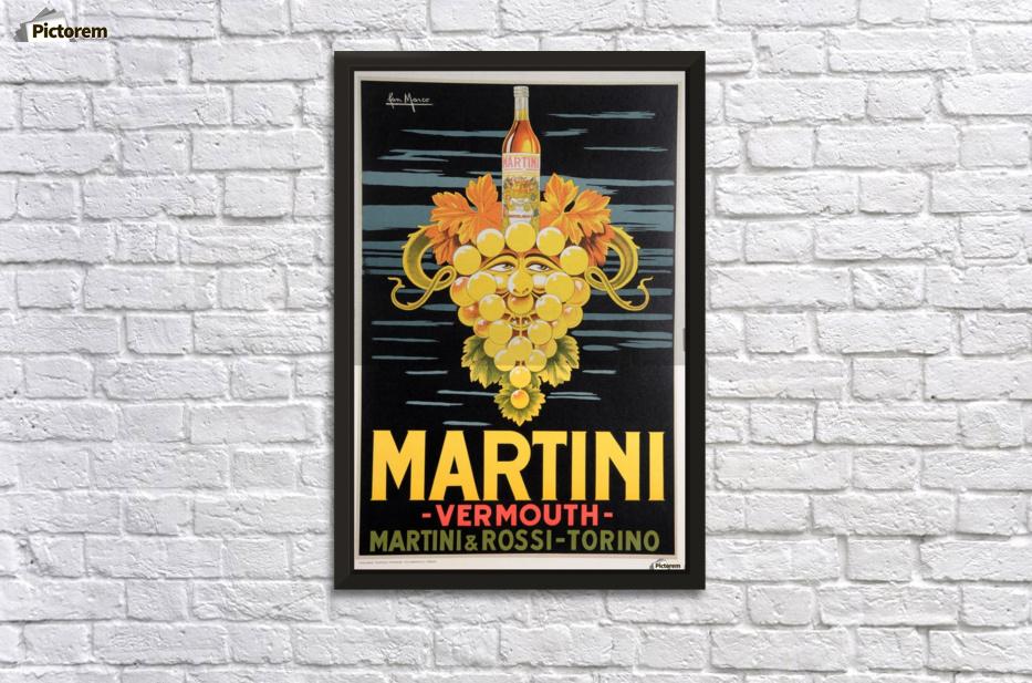 Original Vintage Italian Poster Advertising Martini Vermouth by Pan ...