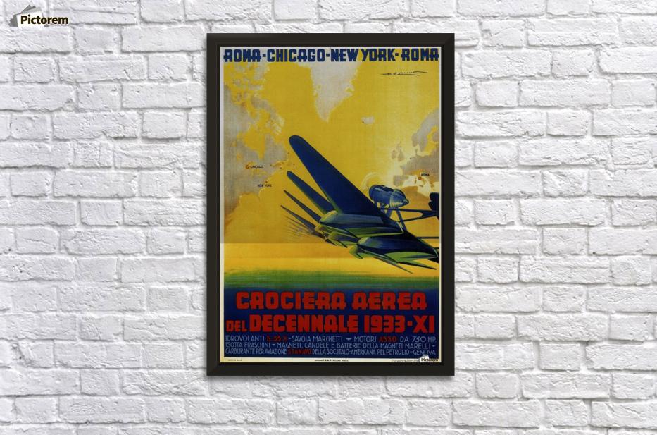 Air Cruisers Crociera Aerea 1933 poster - VINTAGE POSTER Canvas