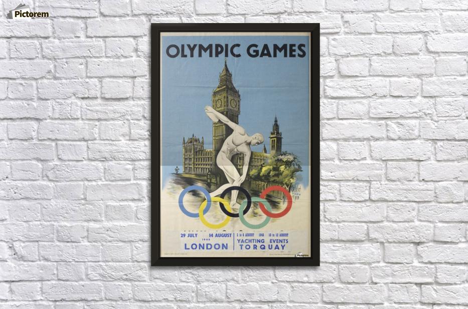 16x24 1948 XIV Olympics London VIntage Style Poster