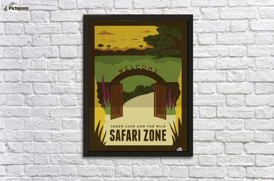 Sheer luck and the wild in Safari zone travel poster - VINTAGE ...
