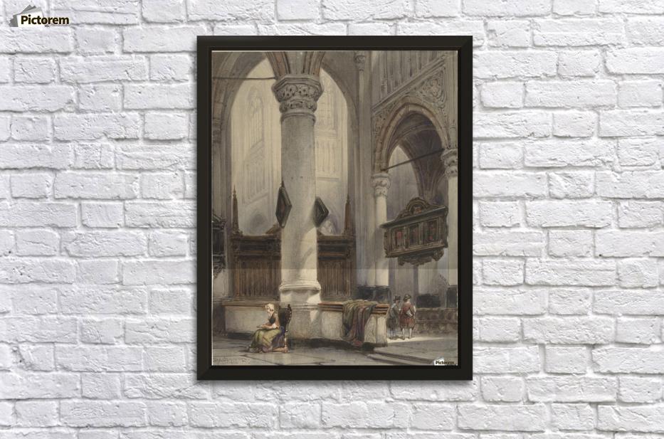 interieur van de nieuwe kerk te delft wall decor frame