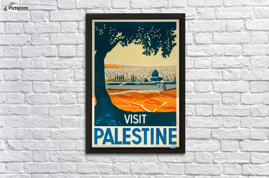 Visit Palestine Travel Poster Wall Decor Frame