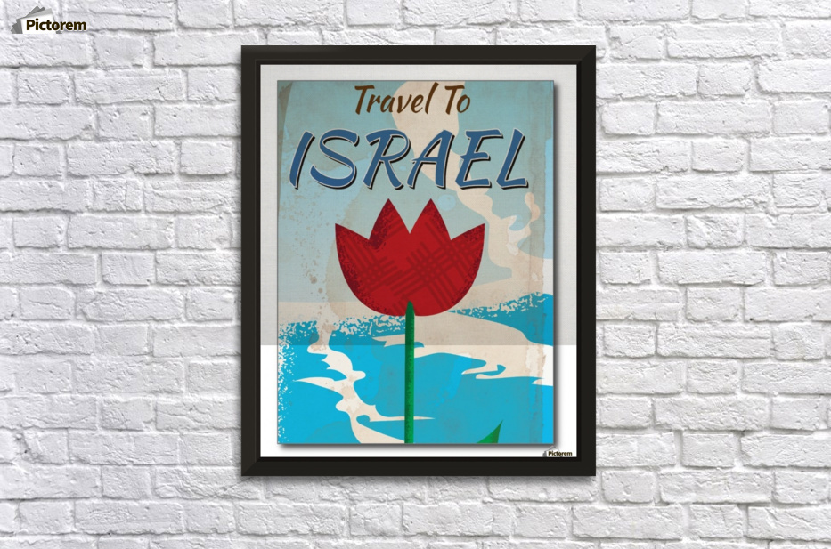 Travel to Israel vintage vacation poster - VINTAGE POSTER Canvas