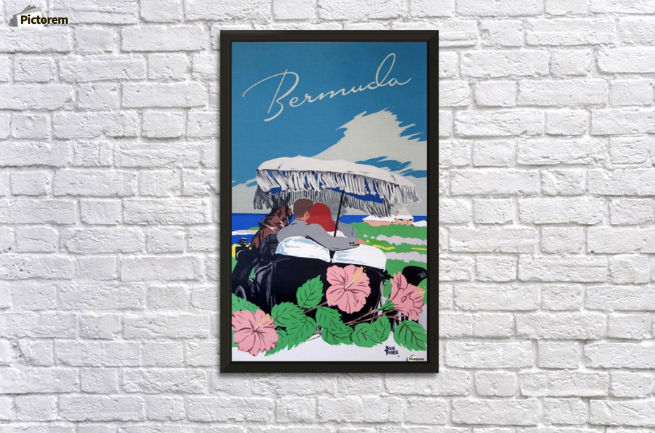 Bermuda Beach vintage travel poster - VINTAGE POSTER Canvas
