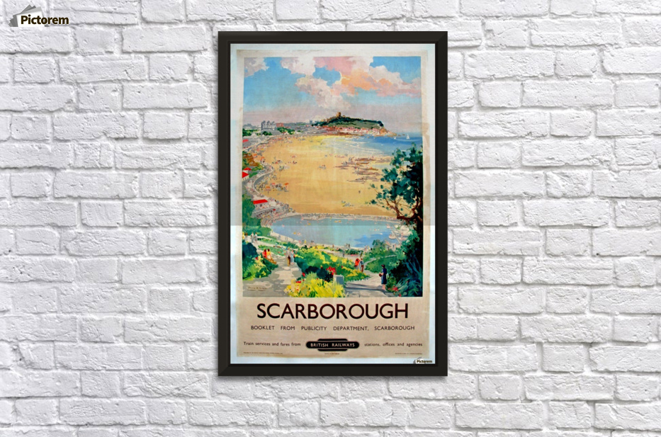 Original Railway Poster Scarborough Wall Decor Frame