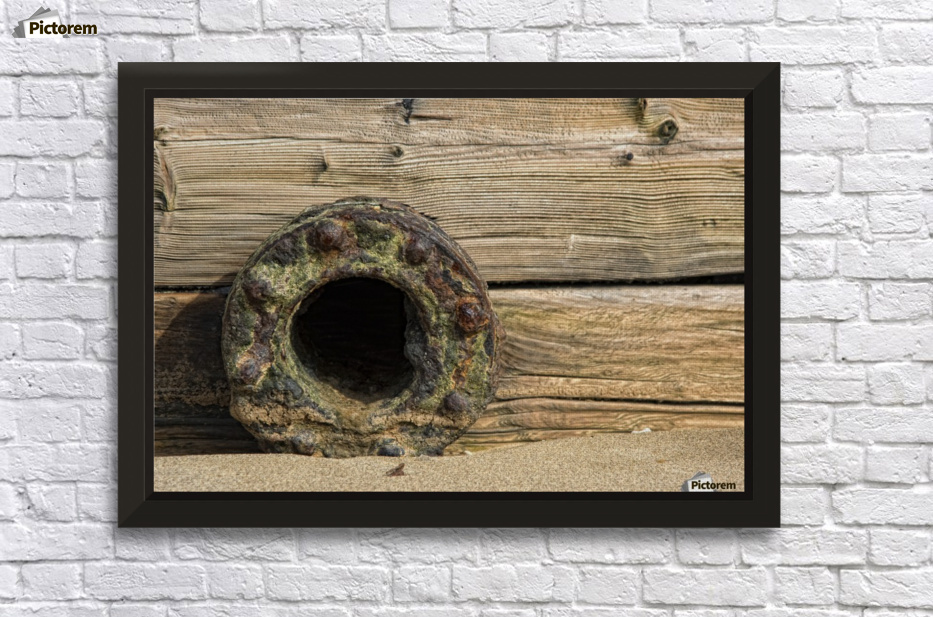 A Rusted Metal Pipe Opening Wall Decor Frame