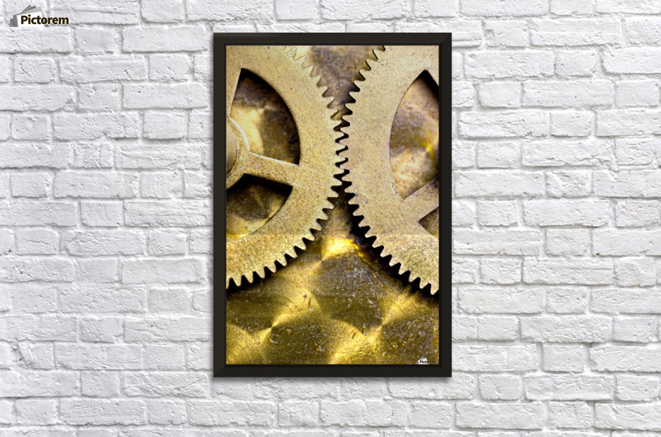 Gears From Inside A Wind-Up Clock - PacificStock Canvas