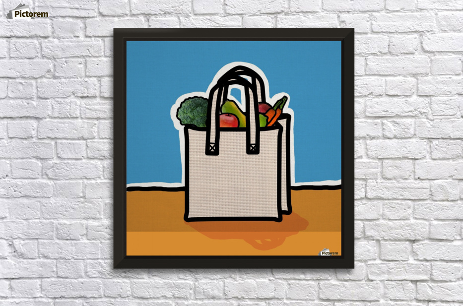 Cloth Shopping Bag With Vegetables - PacificStock Canvas