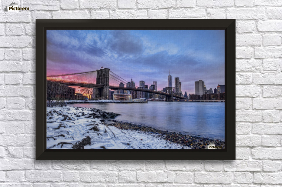 "36/""x48/"" Brooklyn Bridge at Sunset Viewed from Brooklyn Bridge Park Wall Mural"