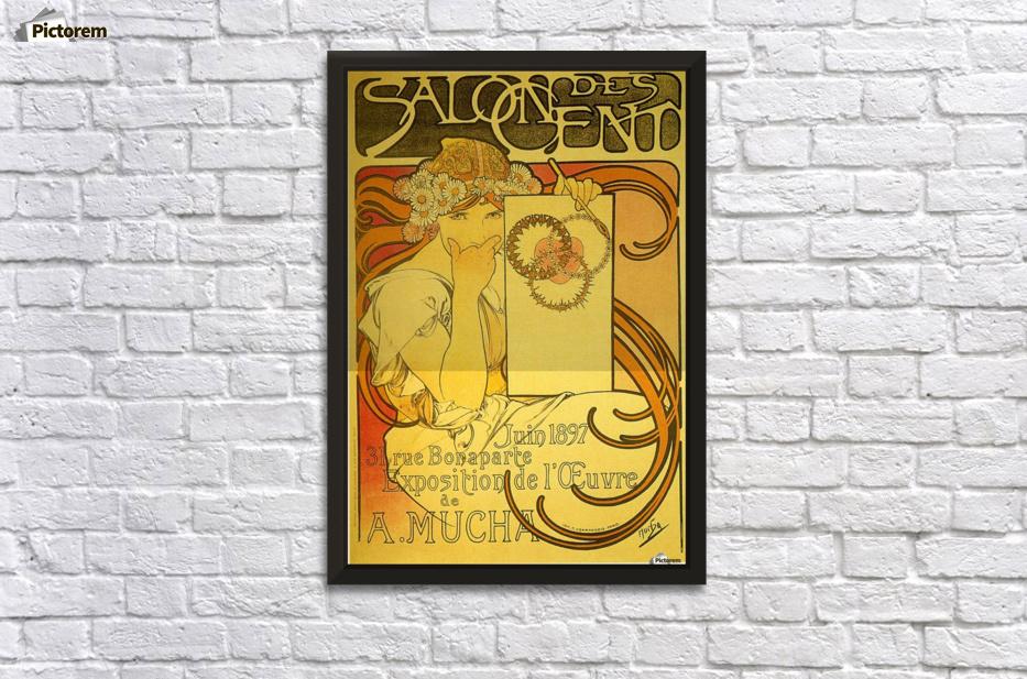 Salon of the Hundred, 1897 - Alphonse Mucha Canvas