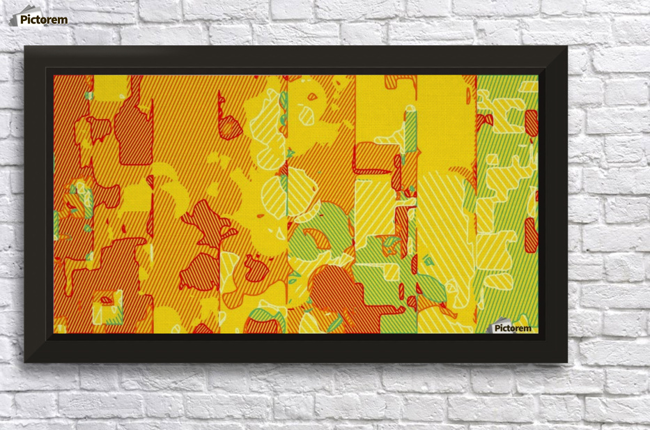 graffiti drawing abstract pattern in yellow brown and blue - TimmyLA ...