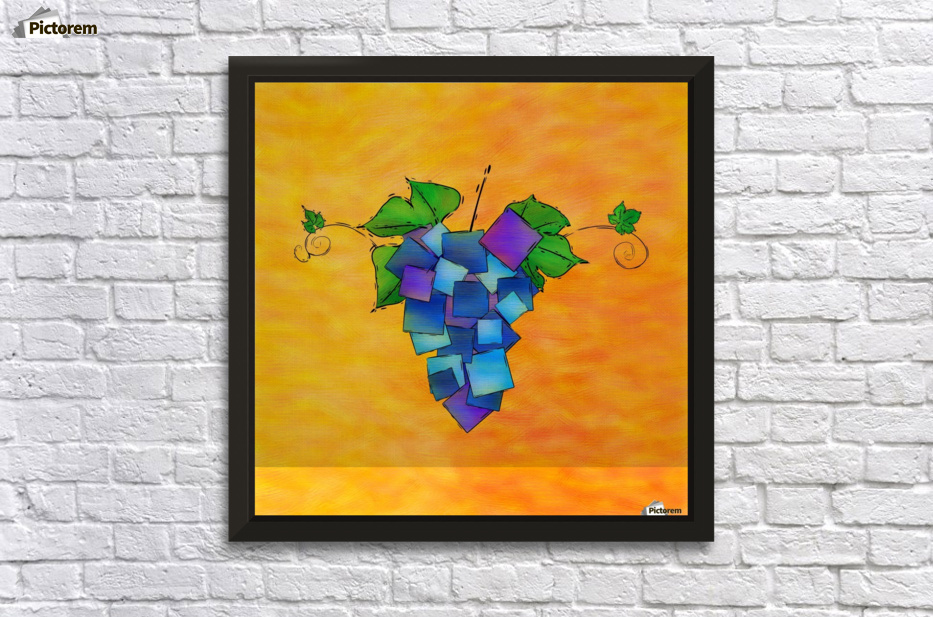 Jamurissa - square grapes - Cersatti Art Canvas