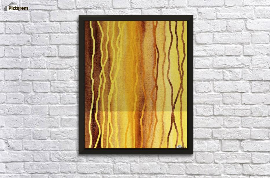Organic Lines Beige Abstract - Irina Sztukowski Canvas