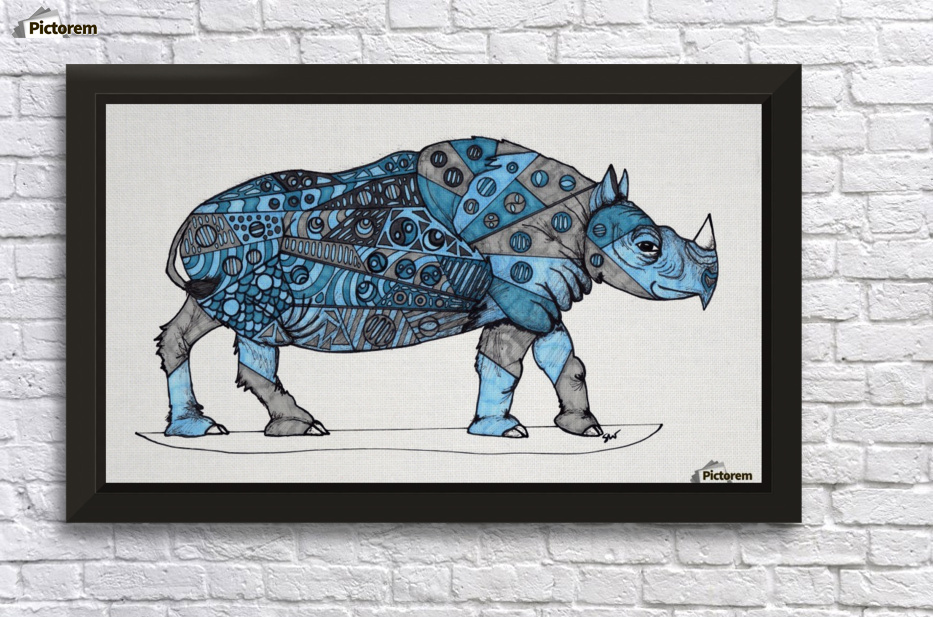 Blue Rhino - Susan Watson Canvas