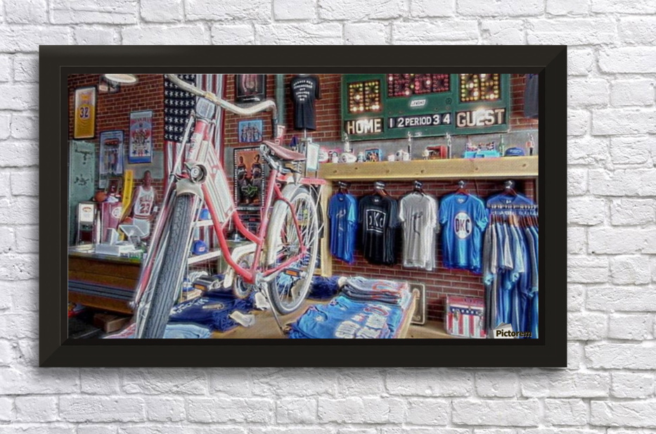 Opolis clothing Store- OKC Stretched Frame Print