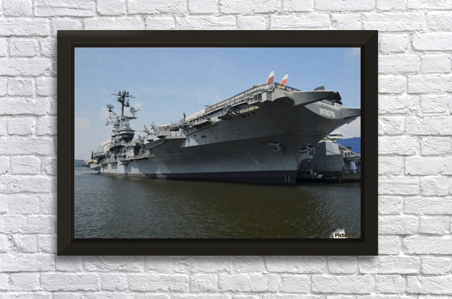 THE INTREPID, NEW YORK Stretched Frame Print