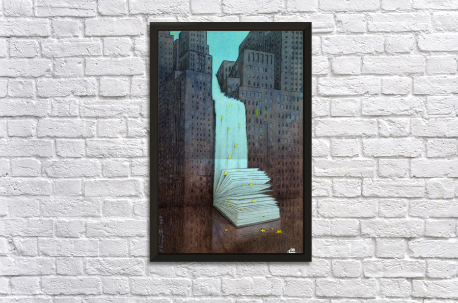 dream book Stretched Frame Print