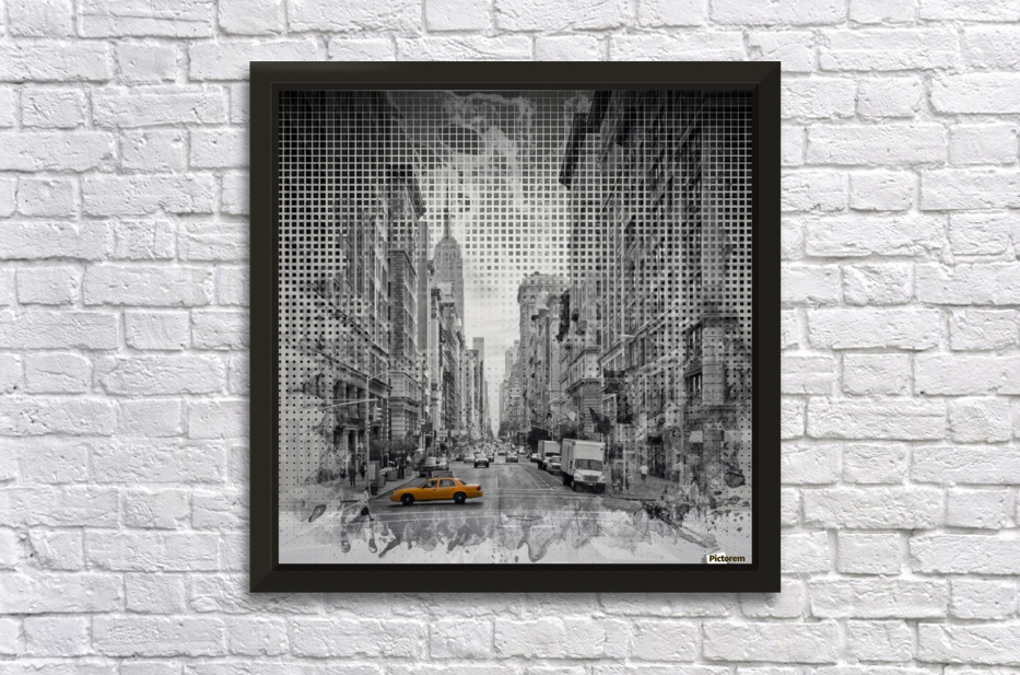 Graphic Art NEW YORK CITY 5th Avenue Stretched Frame Print