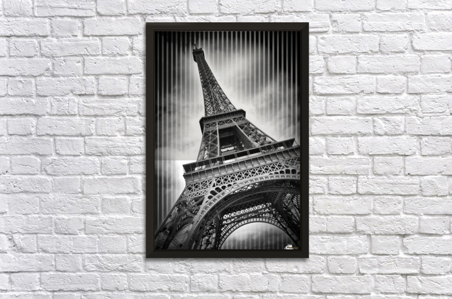paris eiffel tower stretched frame print - Eiffel Tower Picture Frame