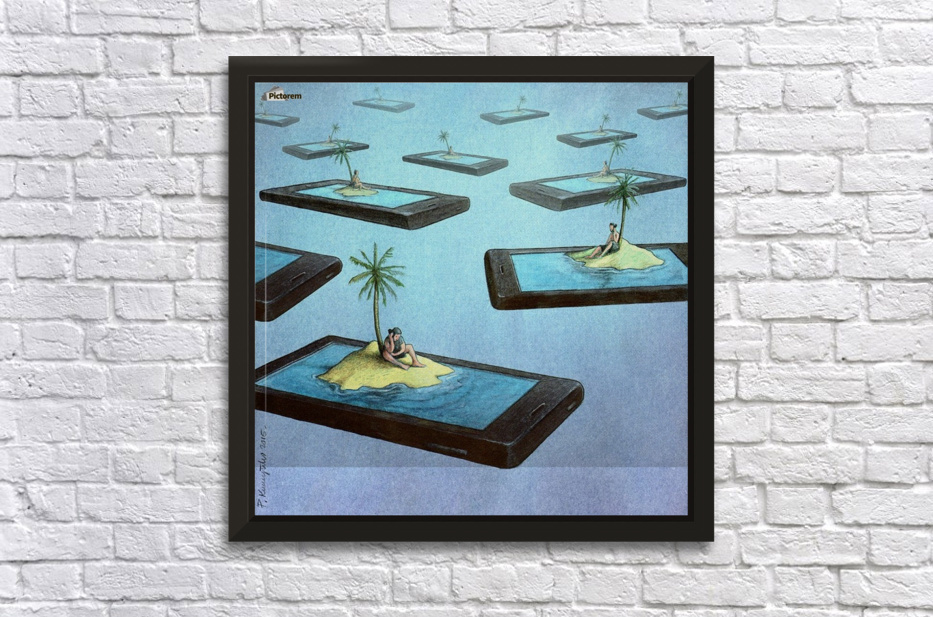 Islands Stretched Frame Print