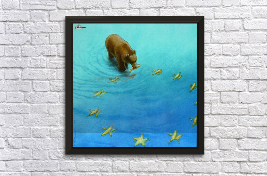 gold fishes Stretched Frame Print