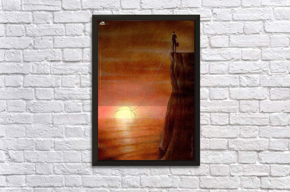 to the west Stretched Frame Print