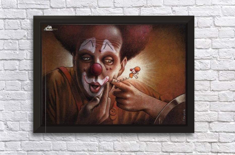 clown Stretched Frame Print