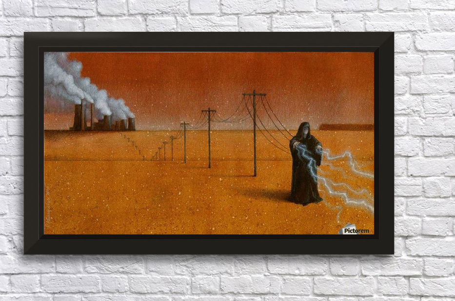 dark industry Stretched Frame Print