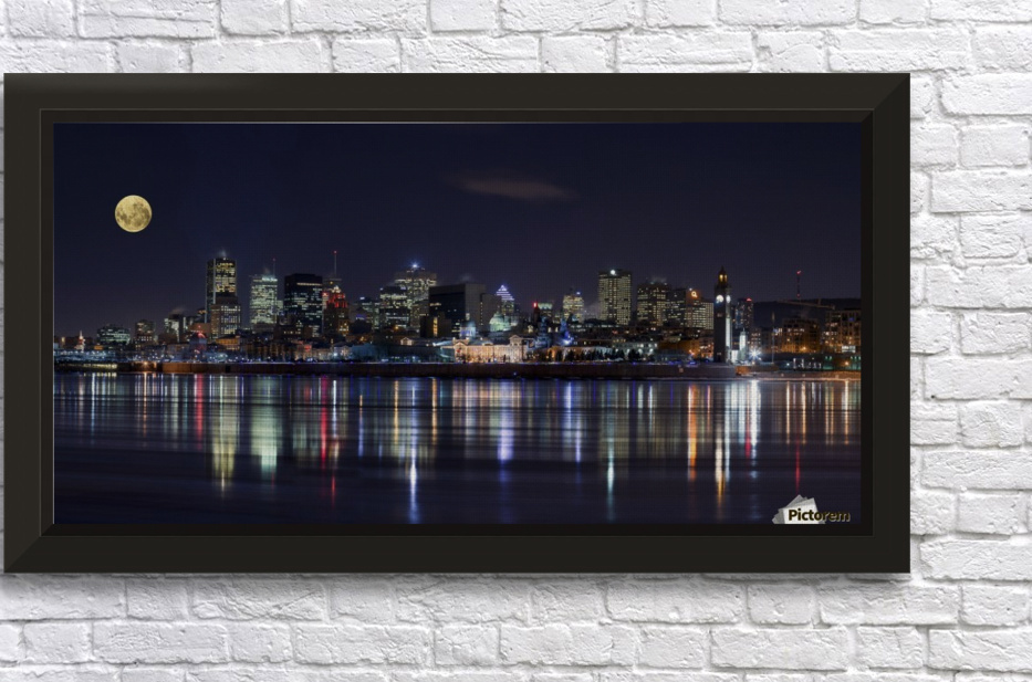 Montreal Night Stretched Frame Print