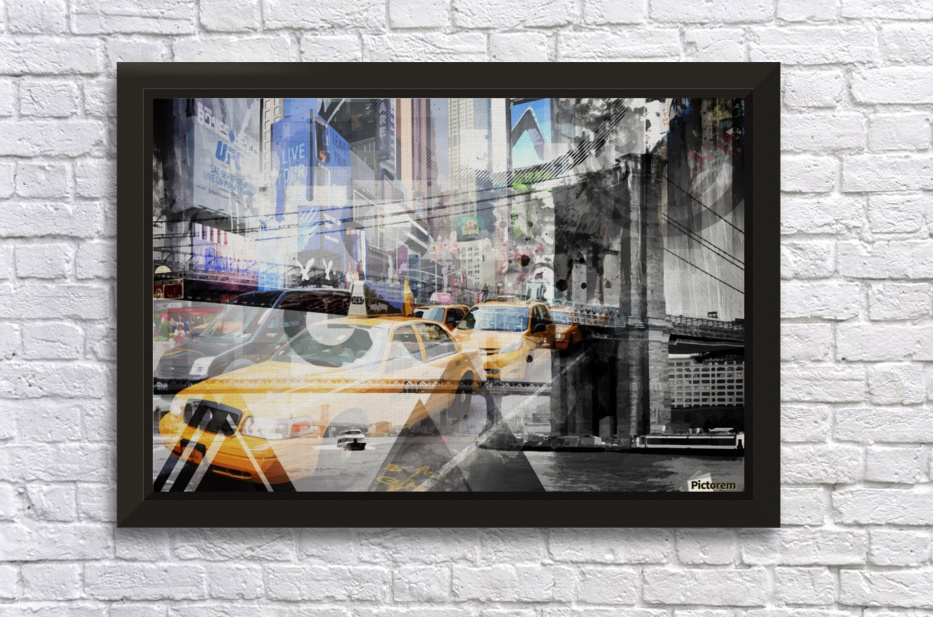 New York City Geometric Mix No. 9 Stretched Frame Print
