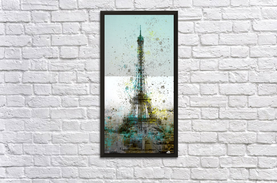 City-Art PARIS Eiffel Tower II Stretched Frame Print