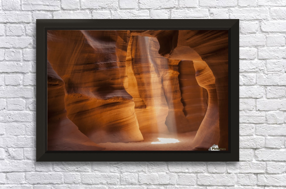 ANTELOPE CANYON Gorgeous Light Beam Stretched Frame Print