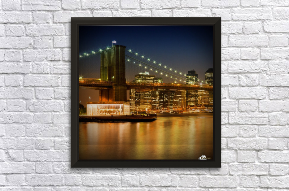 Night-Skylines NEW YORK CITY Stretched Frame Print