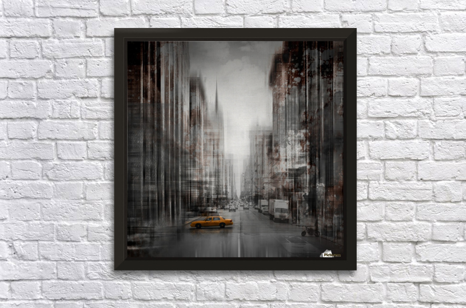 City-Art NYC 5th Avenue Stretched Frame Print