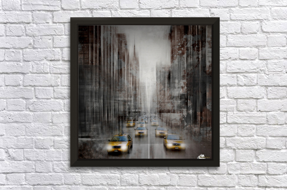City-Art NYC 5th Avenue Traffic Stretched Frame Print