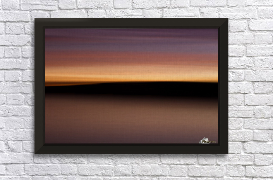 Sunset Motion Stretched Frame Print