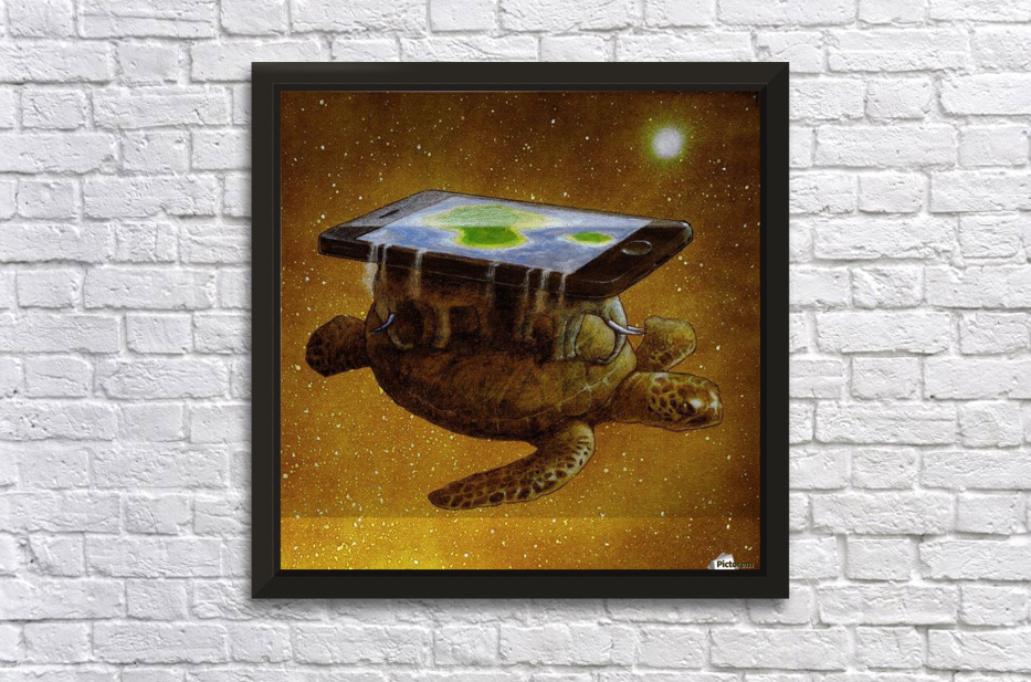 flat world Stretched Frame Print