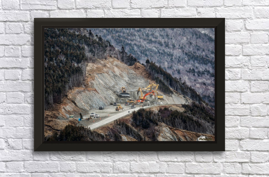 Mountain Moving Stretched Frame Print