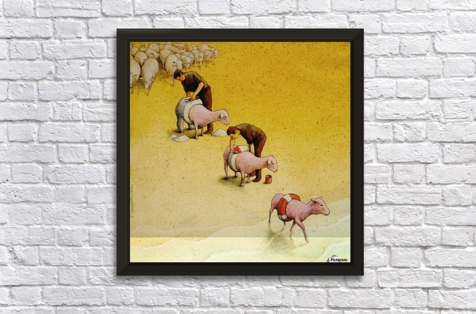Sheep Stretched Frame Print