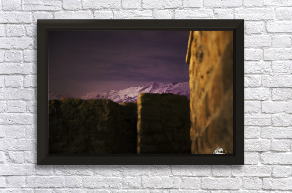 Stone walls  Stretched Frame Print
