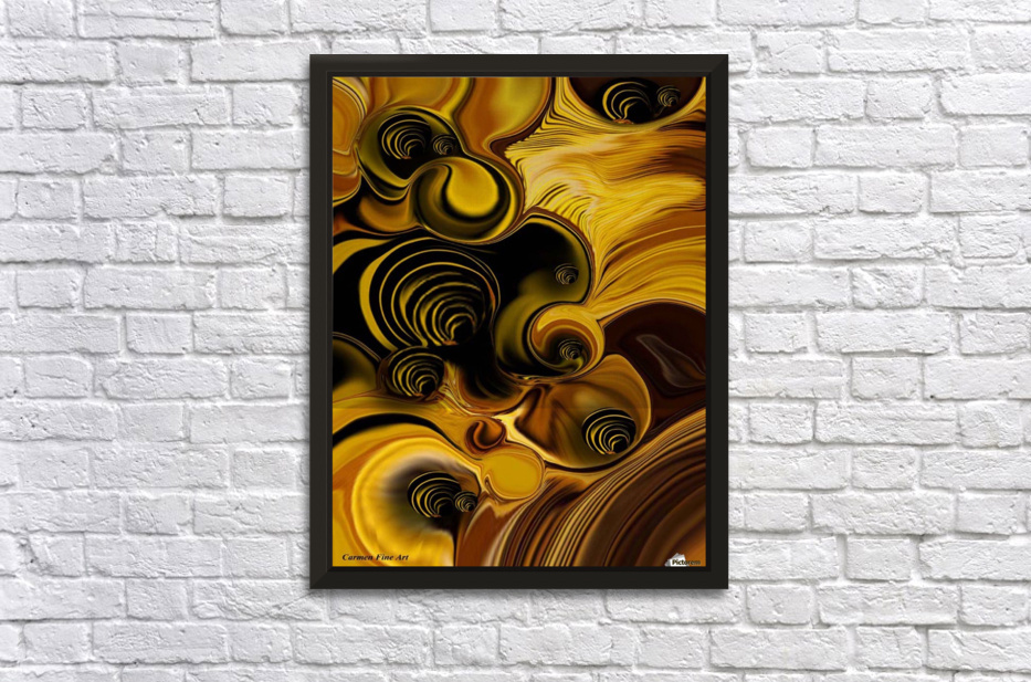 Abstraction with Meditation Stretched Frame Print